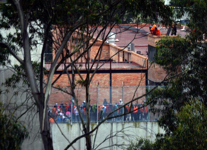 REGISTRO. Imagen de la cárcel de Turi, en Azuay, donde hubo 33 muertos.