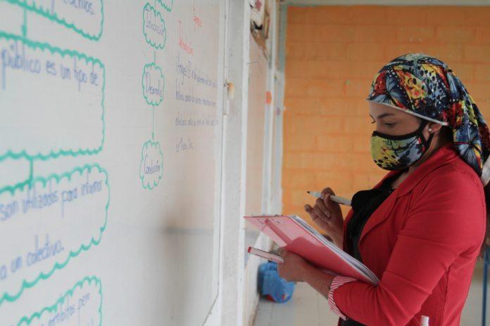 EDUCACIÓN. Las instituciones en retorno progresivo están sujetas a evaluación periódica. (Foto de la Escuela 13 de Abril, en el cantón Pedro Moncayo, parroquia de Tocachi)