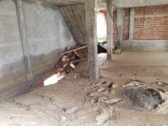 NECESIDAD. Alrededor de 20 casas en el sector San Jorge Alto han sido afectadas por las lluvias y la falta de asfaltado en las calles.