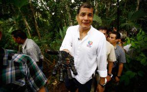 CASO. El expresidente Rafael Correa derrochó millones de dólares en el caso contra Chevron.