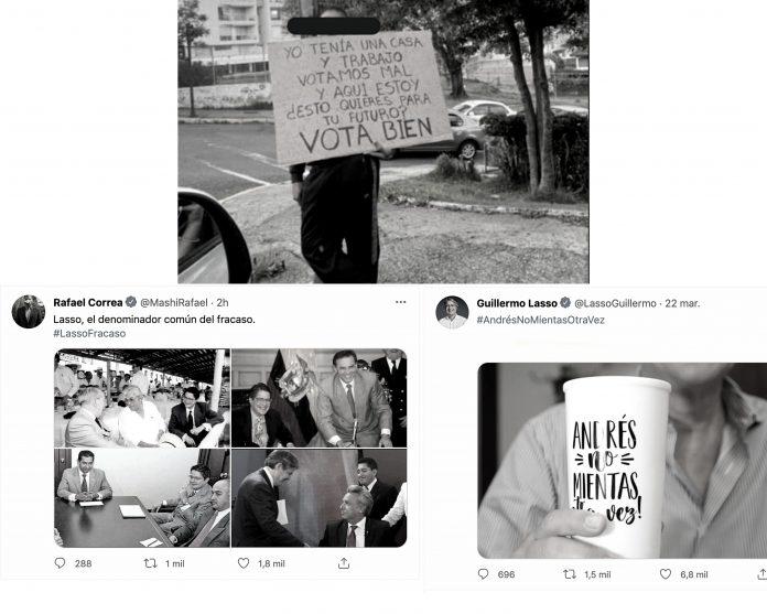 ELECCIONES. Imágenes usadas en la campaña electoral de segunda vuelta.