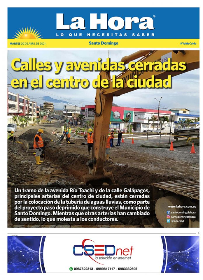 Santo Domingo: 20 de abril, 2021