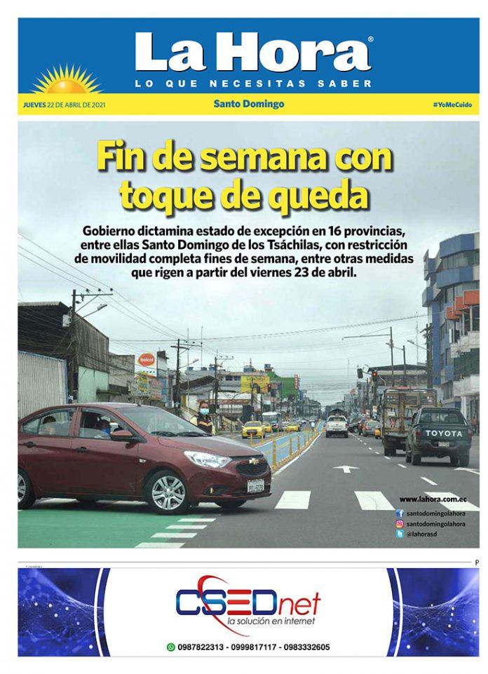 Santo Domingo: 22 de abril, 2021