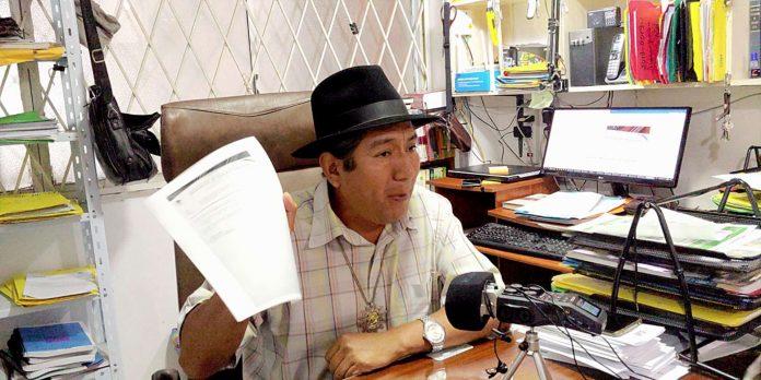 Declaraciones. Salvador Quishpe fue prefecto por dos periodos consecutivos en Zamora Chinchipe.