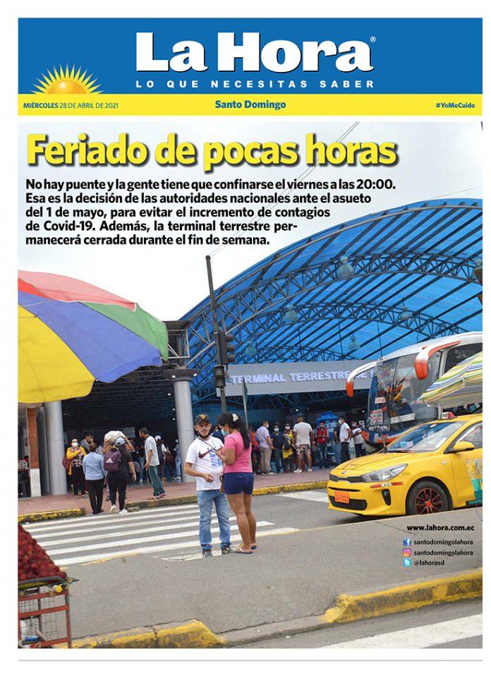 Santo Domingo: 28 de abril, 2021
