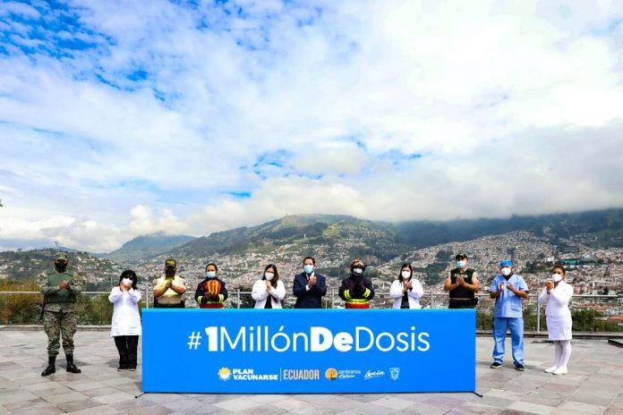 COVID. Ecuador alcanza un primer millón de vacunas contra el coronavirus, el 2 de mayo de 2021. Foto: Cortesía.