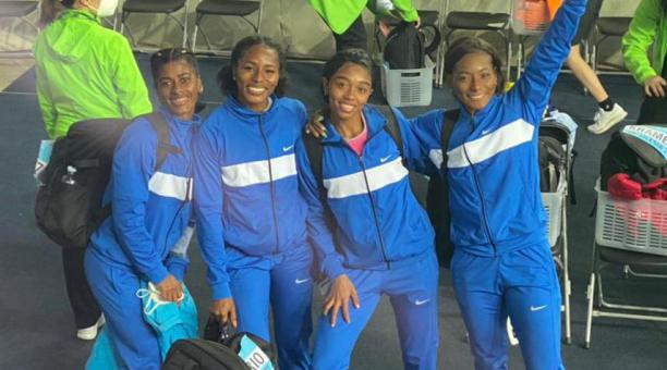 DEPORTE. Las atletas ecuatorianas lograron una presea de bronce en el Mundial de Relevos. Cortesía