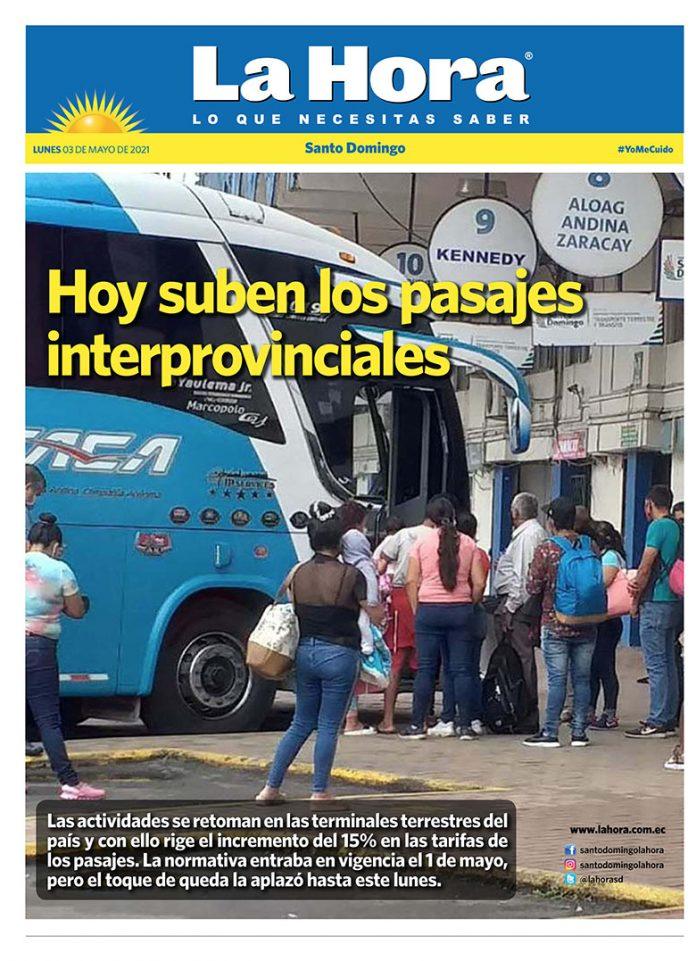 Santo Domingo: 03 de mayo, 2021