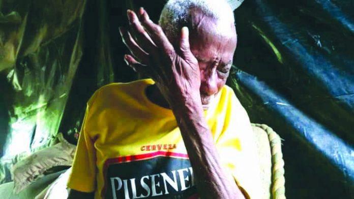 NECESIDAD. Aurelio Angulo requiere de atención médica, ropa e insumos de limpieza y alimentación.