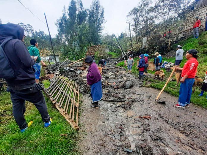 Desgracia. En Otavalo falleció una persona tras un deslave.