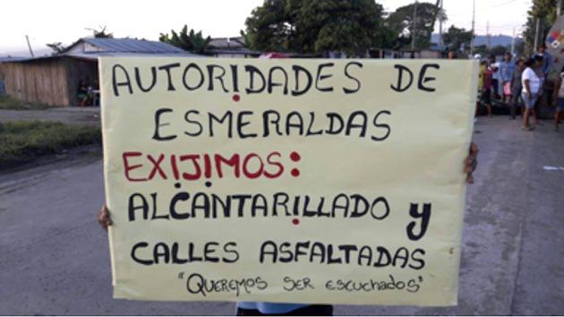 ANUNCIO. Dirigentes de los barrios del sur anuncian protesta pacífica a Petroecuador y Termoesmeraldas en cuanto acabe el Estado de Excepción para demandar una compensación por la contaminación ambiental y ejecutar obras de alcantarillado, asfaltado y servicios básicos.