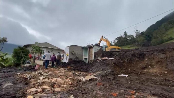 Estragos. Viviendas destruidas y familias damnificadas son parte del saldo de las lluvias de mayo de 2021 en Carchi.