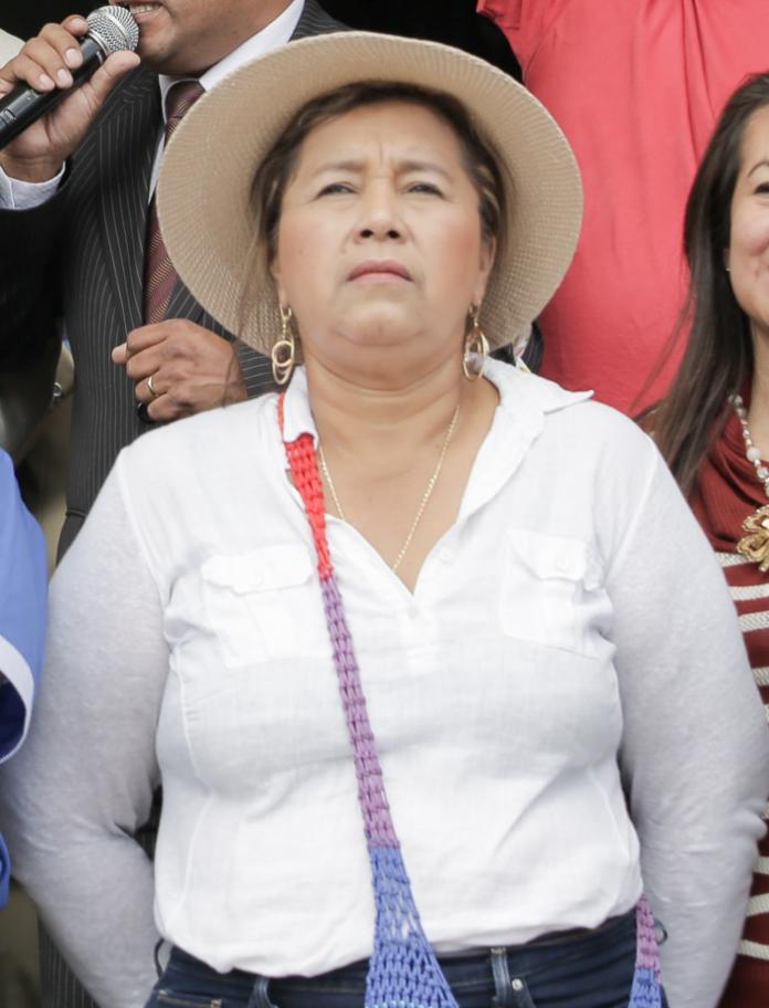 Guadalupe Llori, exprefecta de Orellana y asambleísta electa por Pachakutik para el cuarto período legislativo de la Asamblea Nacional del Ecuador.