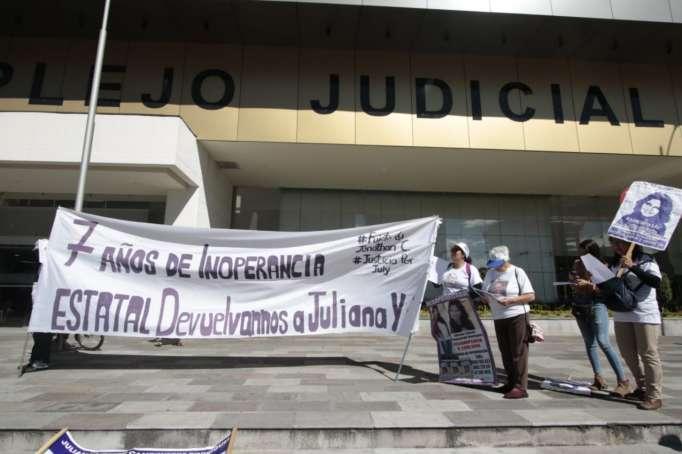 DESAPARECIDOS. Familiares y colectivos que exigen justicia en el caso de Juliana Campoverde.
