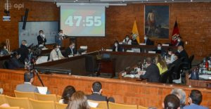 Cabildo. Los concejales de Quito participaron en dos sesiones extraordinarias para analizar la salida de Jorge Yunda. Fotos API.