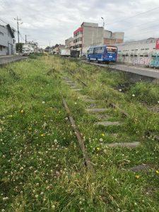 Las rieles del tren en total descuido en San Bartolo