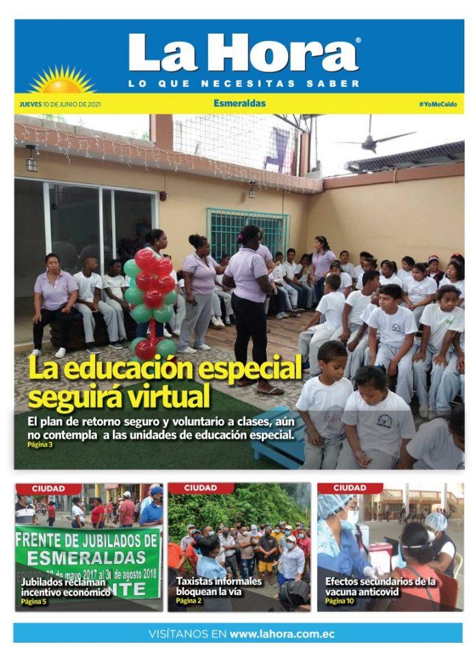 Esmeraldas: 10 de junio, 2021