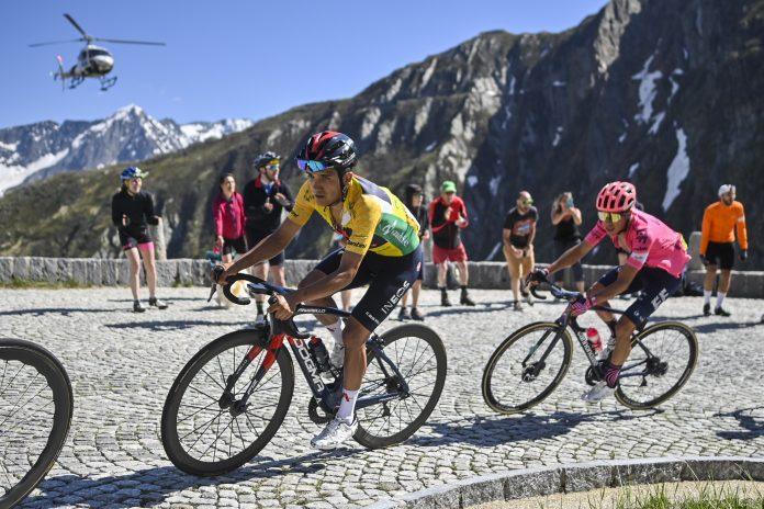 Competencia. El carchense Richard Carapaz fue el mejor de las ocho etapas, que atravesaron los Alpes suizos.