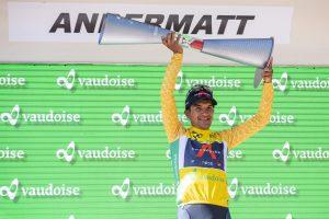 Histórico. Richard Carapaz se convirtió este 13 de junio de 2021 en el primer ecuatoriano en ganar el Tour de Suiza.