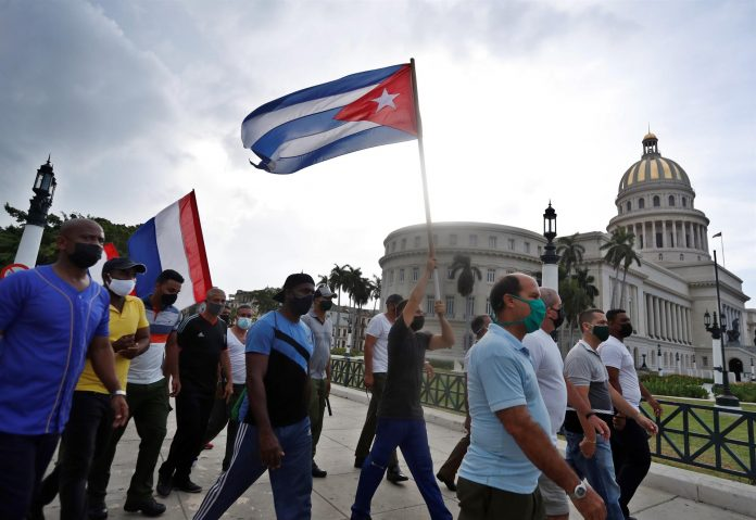 PROTESTAS. Tras las manifestaciones del domingo se desconoce el destino de decenas de participantes en las protestas en Cuba.