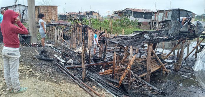 Tres familias lo perdieron todo luego de un incendio