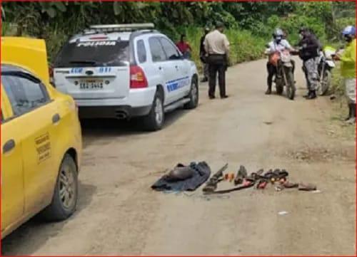 Delito. Una persona fue detenida por el porte de armas y posesión de un animal silvestre de la reserva Mache – Chindul.