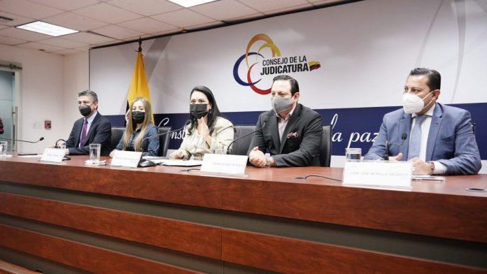 REMOCIÓN. El pleno del Consejo de la Judicatura se reunió para conocer el caso del alcalde de Quito, Jorge Yunda.