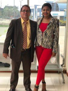 Fabricio Alvarado y Andrea Chere.