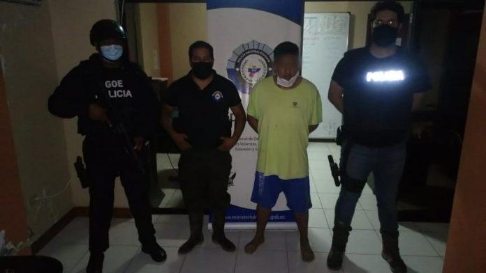 DETENCIÓN. Óscar Y., el segundo más buscado de Santo Domingo de los Tsáchilas fue capturado la madrugada de ayer en un recinto del cantón Quinindé.
