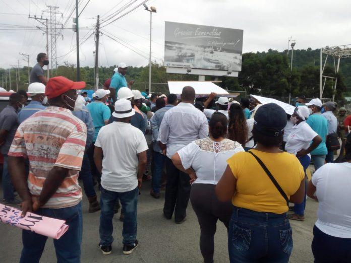 PLANTÓN. La movilización será hoy lunes, desde Codesa hasta los exteriores de la Refinería de Esmeraldas.