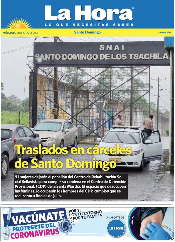 Santo Domingo: 21 de julio, 2021