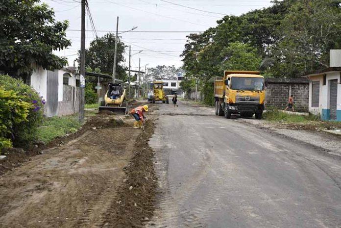 AMPLITUD.La calle Cafetos se conecta con el baipás de La Concordia, está siendo asfaltada y además será ampliada.