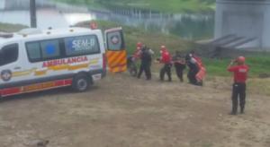 Hombre cayó bajo puente Velasco Ibarra