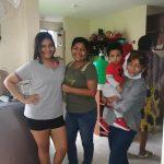 Mell Beatriz Arroyo Charcopa, Sonia Arroyo Hidalgo, Aaroncito Quevedo Arroyo y Janneth Hidalgo.