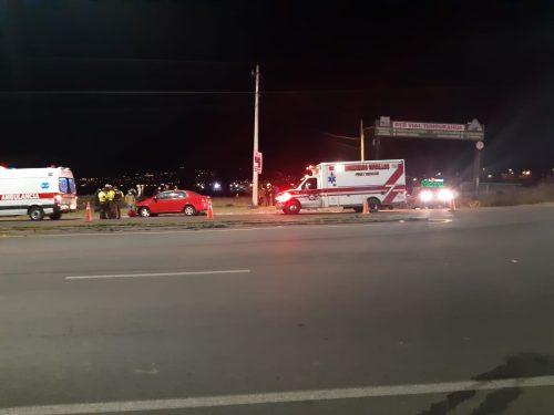 Seis personas resultaron heridas en un accidente en Huachi Grande.