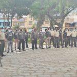 Policía organizó programa cívico en el parque Bolívar